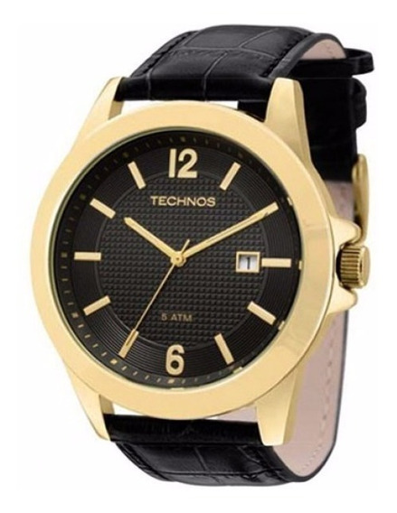 Relógio Technos Masculino Classic 2115kno/2p Dourado Couro