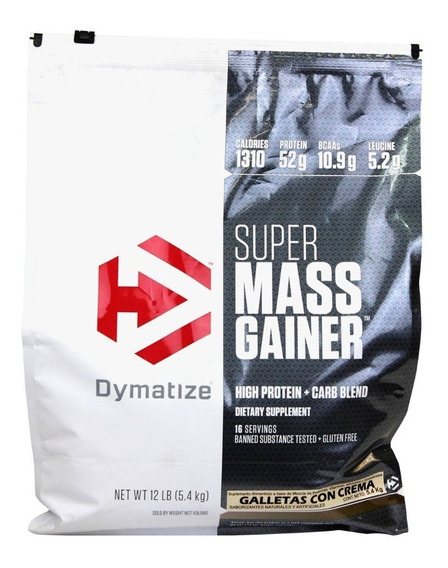 Proteina Dymatize Super Mass Gainer 12lbs Galletas Con Crema