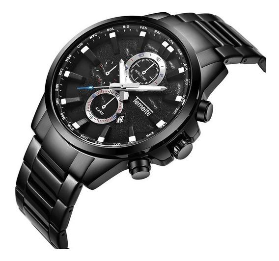 Relógio Temeite T033g Masculino Importado Luxuoso Lindo
