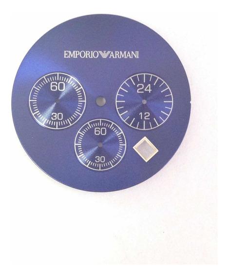 Mostrador Dial Para Relógio Ar5860 Azul