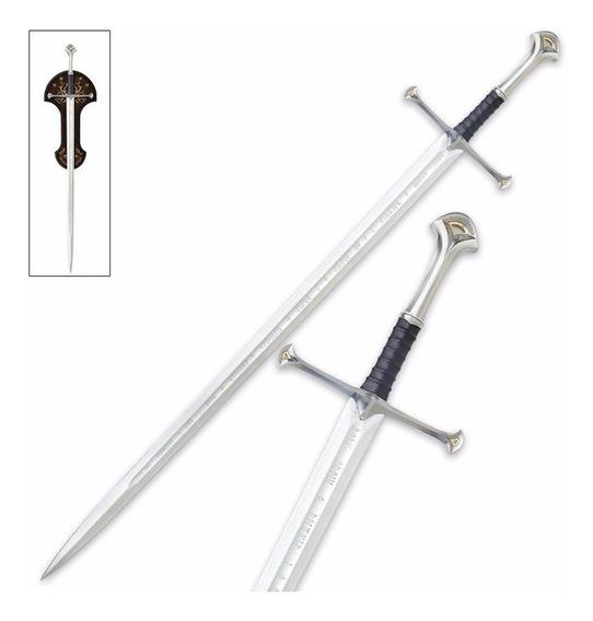 Espada Señor De Los Anillos Aragorn Anduril Hoja Grabada