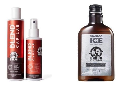 Barba De Respeito - Kit Tratamento Antiqueda + Shampoo
