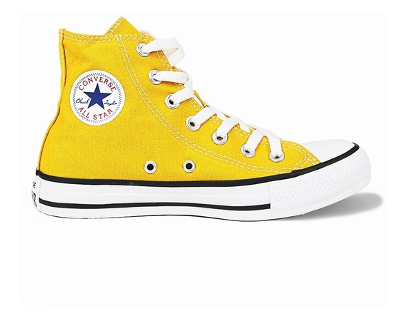 Tênis Converse Chuck Taylor All Star Cano Alto Amarelo