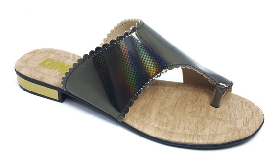 Sandália Salto Verão Chinelo Feminina Rasteira Dinikota
