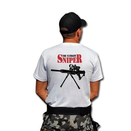 Camiseta Sniper Branca Original Tática Militar