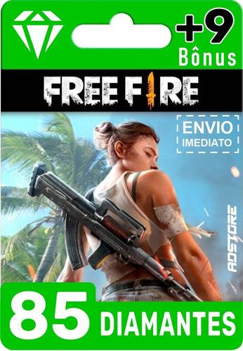 Imagem 1 de 9 de Cartão Presente Free Fire 94 Diamantes Br Brasil