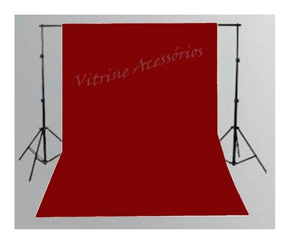 Tecido 3x3 Vermelho + Suporte Fundo Infinito Estúdio Fotográfico Youtuber Foto Chroma Key Igreja Ringligth Escola