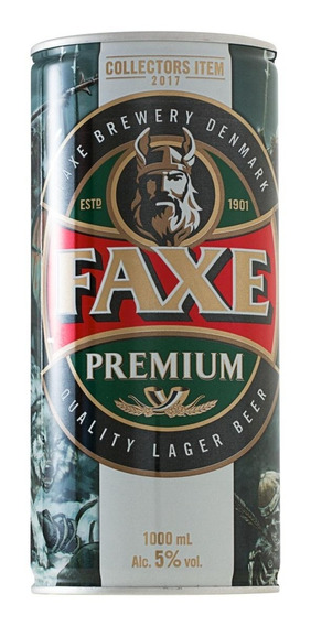 Cerveja Dinamarquesa Faxe Premium Lata 1 Litro