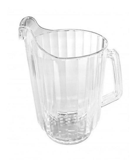 Jarra Acrilica Facetada 1,6 Lts Plastic Jugo Cervez Agua X1