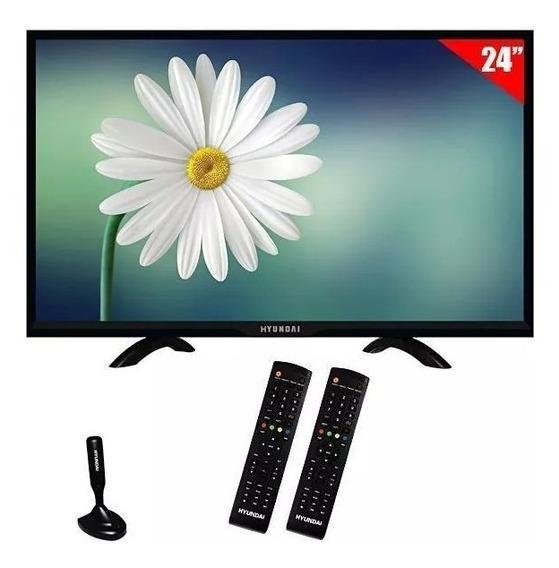 Monitor Tv Led De 24 Hyundai Full Hd Com Hdmi/digital