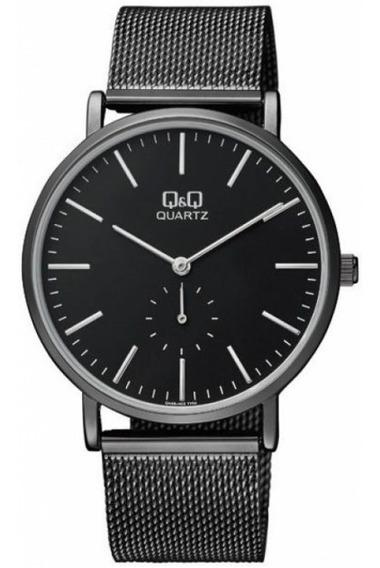 Reloj Q&q By Citizen Caballero Negro-acero Qa96j402y