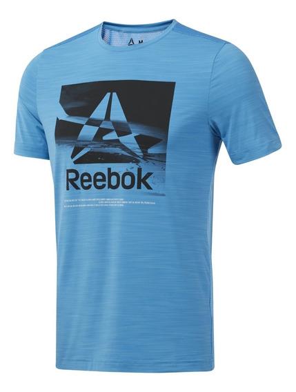 Reebok Remera M/c Running Hombre Wor Activchill Graphic Cte