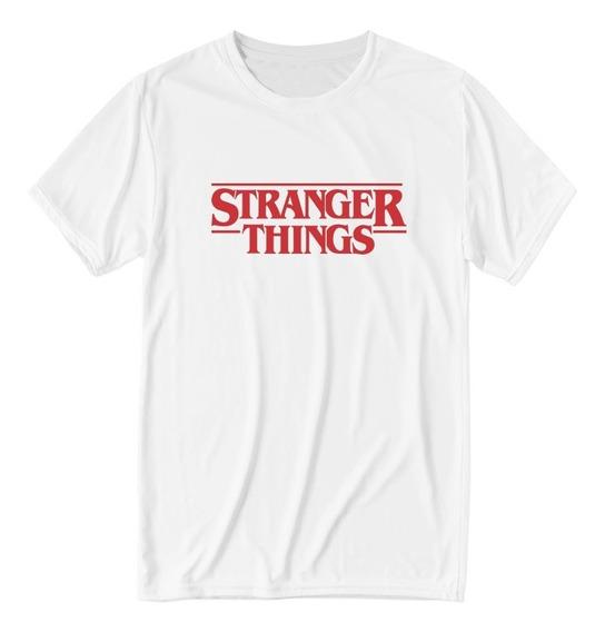 Playera Logo Stranger Things Netflix Blanca Hombre Mujer