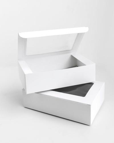 Caja Alfajor / Cookies Con Visor, 20x13x05 - Pack X 10 Un