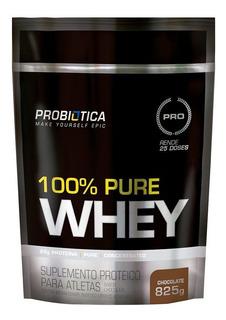 100% Pure Whey 825g Ganho De Massa 23g Proteína - Probiótica