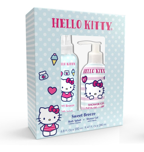 Set Perfume Hello Kitty Sweet Breeze 200ml + Shower Gel
