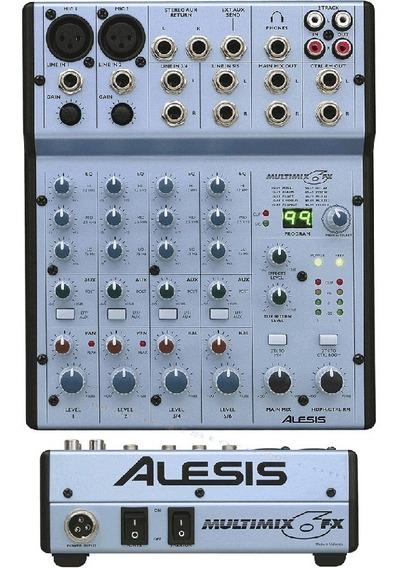Consola Alesis Multimix 6 Fx Mixer 6 Canales Efectos Cuotas!