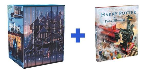 Box Harry Potter 7 Livros + A Pedra Filosofal Ilustrado
