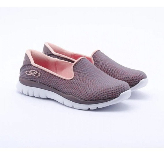 Tênis Olympikus Slip On Angel Grid Original - Lilás/ Rosa