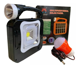 Kit Solar Portatil Linterna Led Lampara Cargador Usb Camping