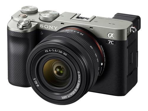 Imagen 1 de 5 de Sony Kit Alpha 7C + lente SEL2860 compacta avanzada color  plata