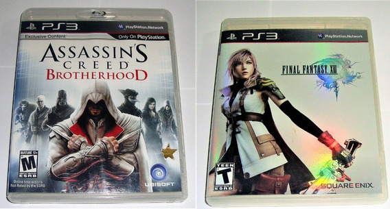 Assassins Creed Brotherhood Final Fantasy Xiii Originais Ps3