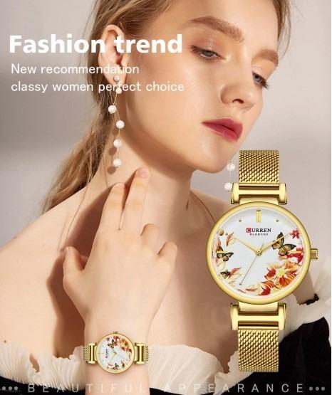 Relógio Feminino De Luxo Flower Quartzo Frete Grátis!!!