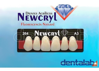 Dientes De Acrilico Newcryl X10 Unidades Prótesis Dental