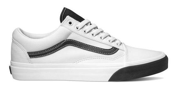 Sneaker Vans Blanco Franja Lateral Al Contraste Oferta