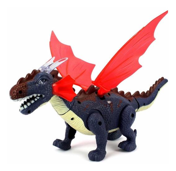 Dragão Dinossauro Brinquedo. Acende Luzes,anda. Emiti Sons.