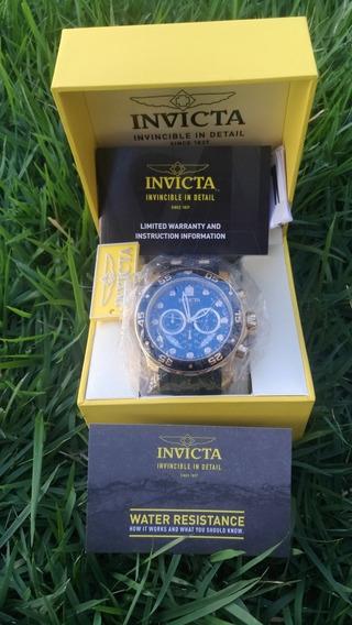 Relógio Invicta 6981 Pro Diver Ouro 18k Desc. Leia O Anúncio