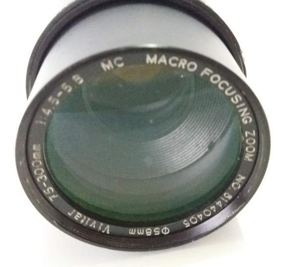 Antiga Lente Vivitar Macro Focus Zoom 75-300mm 58mm