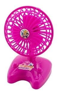 Mini Ventilador Portatil A Pilha Infantil Menina Princesas D