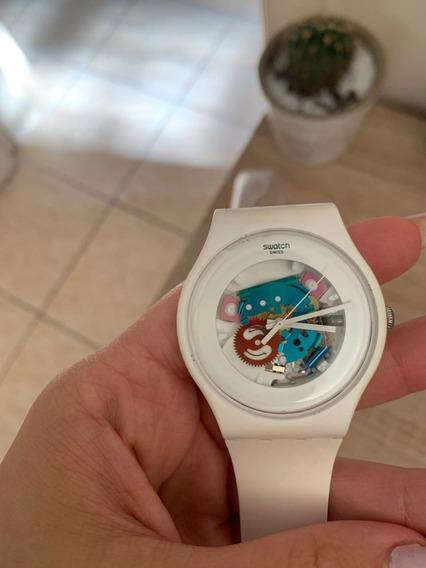Relógio Swatch Branco White Lacquered Suow100
