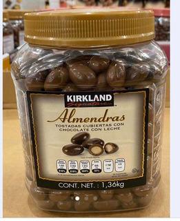 Almendras Con Chocolate Marca Kirkland. Bote Con 1.36 Kgs.