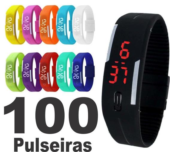 Kit 100 Relógio Pulseira Digital Led Sport Atacado Oferta !