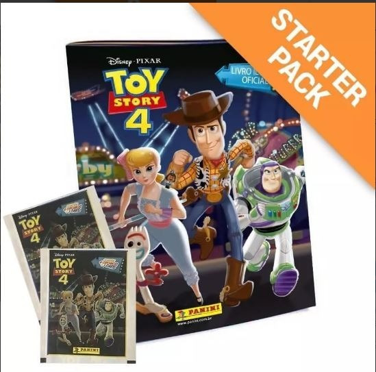 Toy Story 4 - 20 Envelopes (80 Figurinhas + 20 Cards)