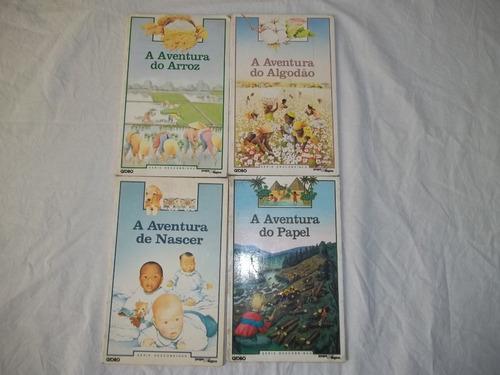Serie Descobrindo Coleção Globo Aventura 4 Livretos