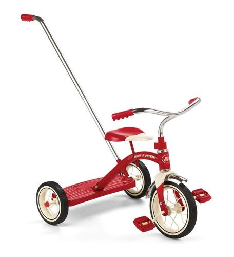 Radio Flyer Classic Red Push Triciclo Paseador Bebe Niños