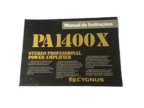 Raro Manual Cygnus Pa 1400 X - Formato Digital!!