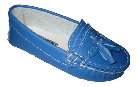 Mocassim Sapato Social Menino Azul Bic Infantil Bebe 17ao29