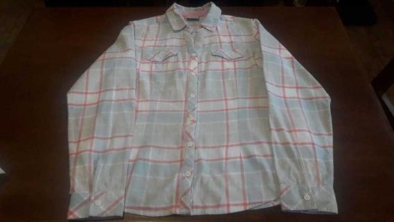 Camisa Columbia De Dama Manga Larga . Talle S. Usada .