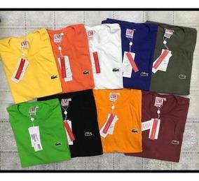 Camisetas Basicas Lacoste Kit 05 Camiseta.