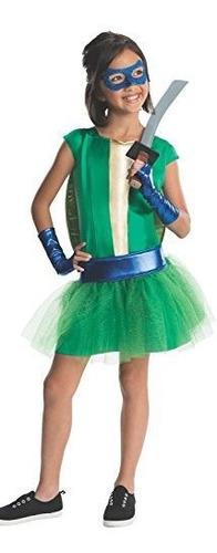 Imagen 1 de 1 de Chicas De Vestuario Tortugas Ninja - Pequeño.