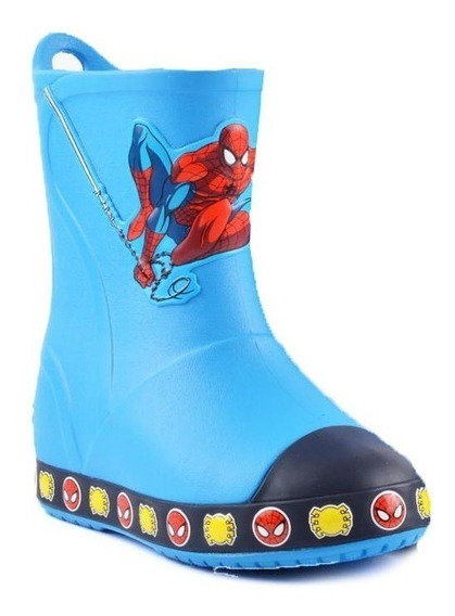 Botas De Lluvia Crocs Original Bump It Spiderman - Nene
