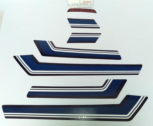 Imagem 1 de 3 de Jogo De Faixas Honda Cb 400 1980/1981 Prata Lbm