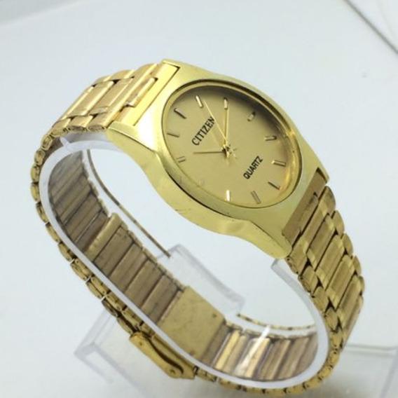 V) Relógio Pulso Citizen Banho A Ouro Feminino Masculino- Promoção Oferta