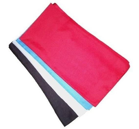 Pañuelos Lisos Finos Rojo, Negro, Blanco Y Celeste