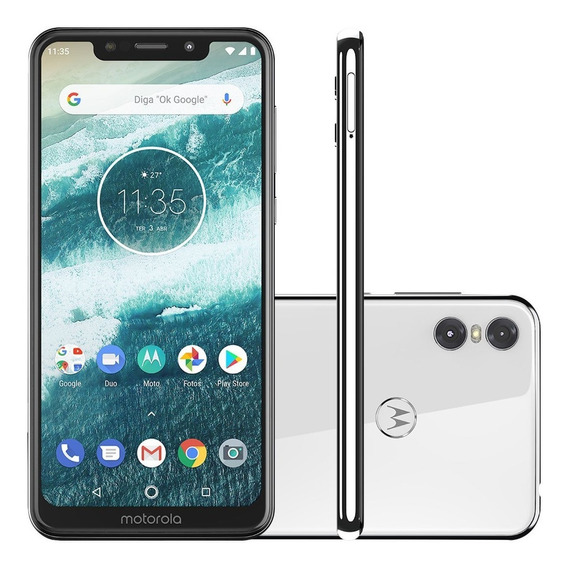 Celular Motorola Moto One 64gb White Libre 4g Gtia 12 Cuotas