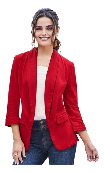 Saco Liso Color Rojo Sintético Cklass
